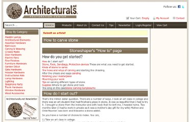 http://www.architecturals.net/how-to-carve-stone/