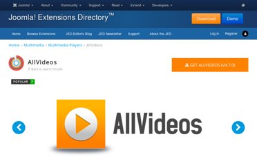 http://extensions.joomla.org/extensions/multimedia/multimedia-players/video-players-a-gallery/812