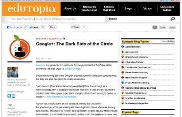 http://www.edutopia.org/blog/dark-side-google-plus-ira-socol