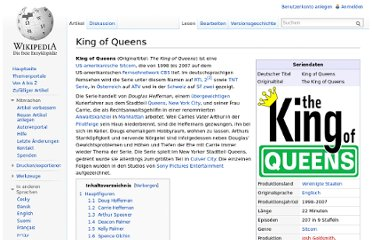 http://de.wikipedia.org/wiki/King_of_Queens