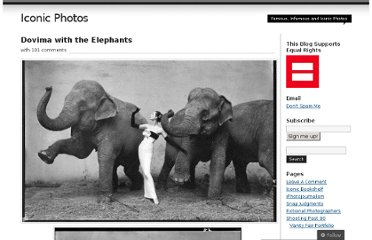 http://iconicphotos.wordpress.com/2009/05/16/dovima-with-the-elephants/