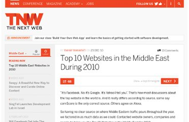 http://thenextweb.com/me/2010/12/25/top-10-websites-in-the-middle-east-during-2010/