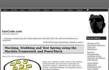 http://www.hascode.com/2011/03/mocking-stubbing-and-test-spying-using-the-mockito-framework/