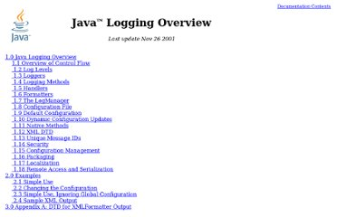 http://download.oracle.com/javase/1.4.2/docs/guide/util/logging/overview.html