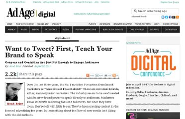 http://adage.com/article/digitalnext/tweet-teach-brand-speak/229045/