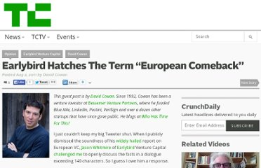 http://techcrunch.com/2011/08/02/earlybird-hatches-european-comeback/