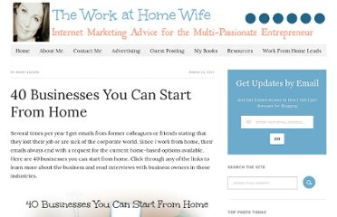http://theworkathomewife.com/40-businesses-you-can-start-from-home/