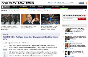 http://thinkprogress.org/politics/2011/04/11/157596/military-spending-doubled-since-2001/