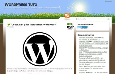 http://wordpress-tuto.fr/check-list-installation-wordpress-1110#more-1110