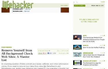 http://lifehacker.com/5827106/remove-yourself-from-all-background-check-websites-a-master-list