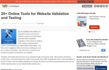 http://www.1stwebdesigner.com/freebies/online-tools-website-validation-testing/