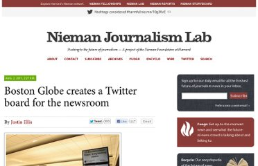 http://www.niemanlab.org/2011/08/boston-globe-creates-a-twitter-board-for-the-newsroom/