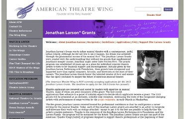 http://americantheatrewing.org/larsongrants/index.php
