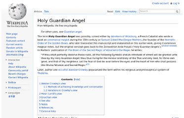 http://en.wikipedia.org/wiki/Holy_Guardian_Angel
