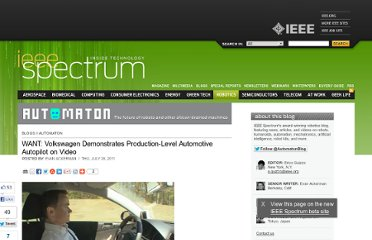 http://spectrum.ieee.org/automaton/robotics/artificial-intelligence/want-volkswagen-demonstrates-productionlevel-automotive-autopilot-on-video
