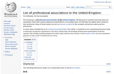 http://en.wikipedia.org/wiki/List_of_professional_associations_in_the_United_Kingdom
