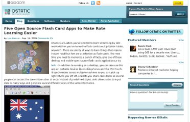 http://ostatic.com/blog/five-open-source-flash-card-apps-to-make-rote-learning-easier