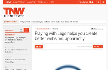 http://thenextweb.com/shareables/2011/08/03/playing-with-lego-helps-you-create-better-websites-apparently/