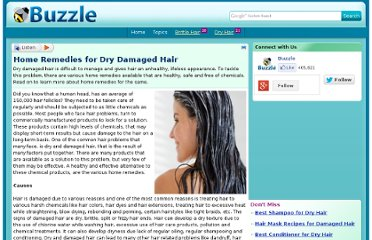 http://www.buzzle.com/articles/home-remedies-for-dry-damaged-hair.html