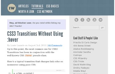 http://www.impressivewebs.com/css3-transitions-without-hover/