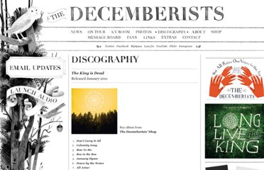 http://decemberists.com/albums/the-king-is-dead/
