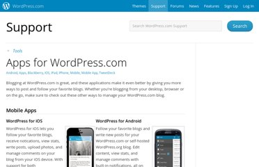 http://en.support.wordpress.com/apps/