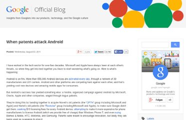 http://googleblog.blogspot.com/2011/08/when-patents-attack-android.html