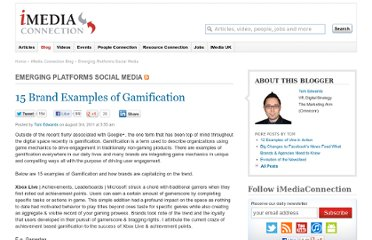 http://blogs.imediaconnection.com/blog/2011/08/03/15-brand-examples-of-gamification/