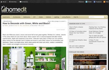 http://www.homedit.com/how-to-decorate-with-green-white-and-black/