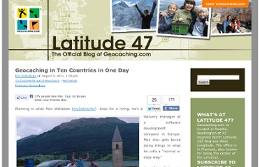 http://blog.geocaching.com/2011/08/geocaching-in-ten-countries-in-a-day/