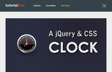 http://tutorialzine.com/2009/12/colorful-clock-jquery-css/