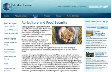 http://www.merid.org/Content/Topics/Agriculture_and_Food_Security.aspx