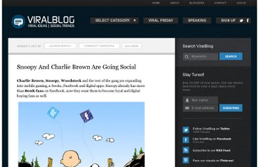 http://www.viralblog.com/community-marketing/snoopy-and-charlie-brown-are-going-social/
