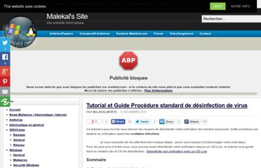 http://www.malekal.com/2010/11/12/tutorial-et-guide-procedure-standard-de-desinfection-de-virus/