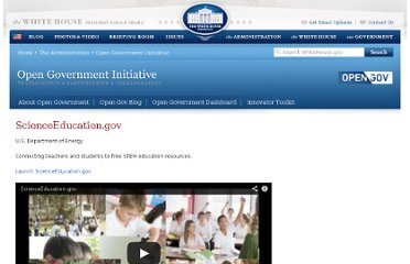 http://www.whitehouse.gov/open/innovations/ScienceEducation