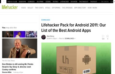 http://lifehacker.com/5827518/lifehacker-pack-for-android-our-list-of-the-best-android-apps