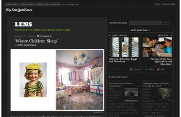 http://lens.blogs.nytimes.com/2011/08/04/where-children-sleep/