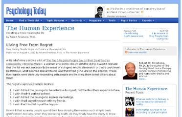 http://www.psychologytoday.com/blog/the-human-experience/201108/living-free-regret