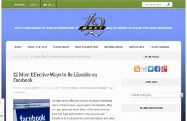 http://12most.com/2011/08/04/12-effective-ways-likeable-facebook/
