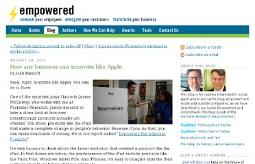 http://forrester.typepad.com/groundswell/2011/08/how-any-business-can-innovate-like-apple.html