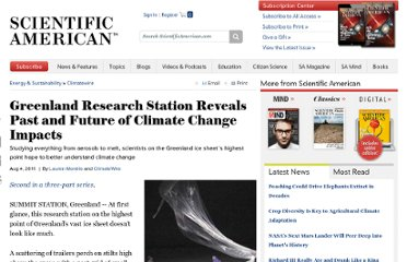 http://www.scientificamerican.com/article.cfm?id=greenland-research-station-reveals-past-future-climate-impacts