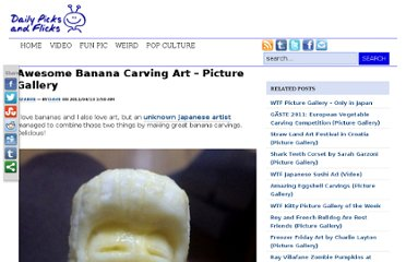 http://dailypicksandflicks.com/2011/04/13/awesome-banana-carving-art-picture-gallery/