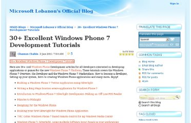http://blogs.msdn.com/b/lebanon/archive/2011/01/03/30-excellent-windows-phone-7-development-tutorials.aspx