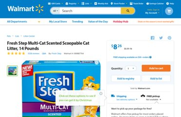 http://www.walmart.com/ip/Fresh-Step-Multi-Cat-14lb/14977281