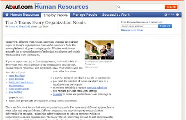 http://humanresources.about.com/od/involvementteams/a/five_teams.htm