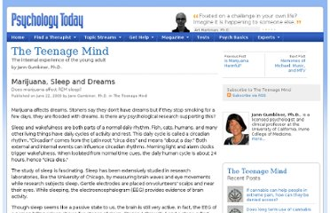 http://www.psychologytoday.com/blog/the-teenage-mind/200906/marijuana-sleep-and-dreams