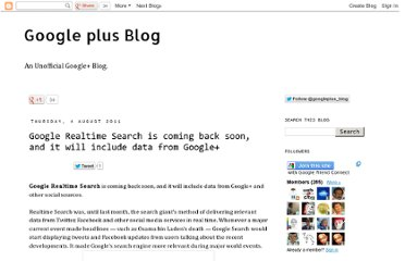 http://googlepluses.blogspot.com/2011/08/google-realtime-search-is-coming-back.html