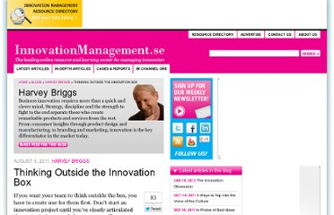 http://www.innovationmanagement.se/2011/08/04/thinking-outside-the-innovation-box/