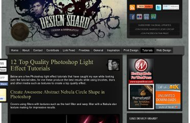 http://www.designshard.com/video-tutorials/12-top-quality-photoshop-light-effect-tutorials/