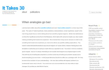 http://ittakes30.wordpress.com/2011/08/05/when-analogies-go-bad/